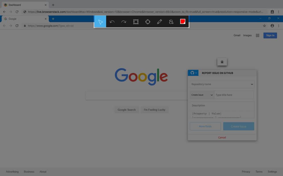 GitHub Integration Report a Bug Step 2