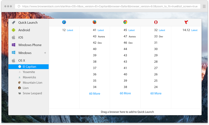 Browser compability testing